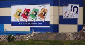 Montáž reklamnej plachty 48x20m a 24x14m | Reklamná agentúra